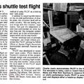 詹森太空中心的報紙報導回航模擬之二