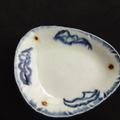 唐物青花,是日本萬古陶藝,小碟子是丹山手製