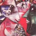 記憶裏的維特巴斯克-馬克夏卡爾的作品「我和村莊」,於1911、12年間往巴黎完成,現收藏於紐約的現代國家美術館。各種記憶中的影像萬花筒般的,全在這幅描繪維特巴斯克的畫裏一起出現