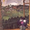 馬克 夏卡爾的作品「椅前維特巴斯克的景色」,於1908年完成,現由聖彼得堡的戈德葉夫收藏。這是夏卡爾早期的作品,描繪從他住處的宙外眺望出去的景色。