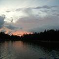 20100803 這天,跟巴拉圭母女告別後,來到澄清湖已是傍晚時分, 哇! 那一大片紫粉粉的雲.......