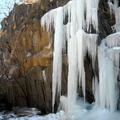 連日零下溫度,造就了某家人後院的奇景~急凍大瀑布
