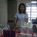 統欣生物科技公司專業行銷部經理陳貝菁,健康亮麗兼而有之,由內而外充滿活力,是最佳產品代言。