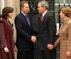 攻打伊拉克後布希訪英,圖片來自BBC