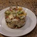 蘑菇魚豆腐鮭魚炒飯