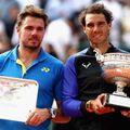 2017 法網男單 左亞軍 瑞士Stan Wawrinka   右冠軍 西班牙 Rafael Nadal    .jpg