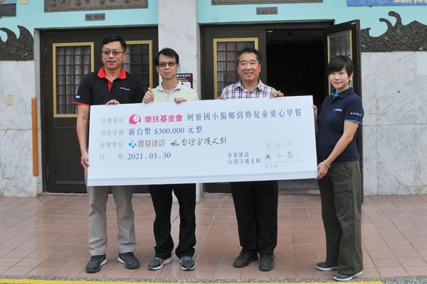 晉基建設與台灣守護文創攜手台南樂扶基金會 為偏鄉孩子提供營養滿滿的愛心早餐