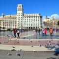 西班牙巴塞隆納-加泰隆尼亞廣場/蘭布拉大道