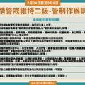 二級警戒延至九月六日防疫措施