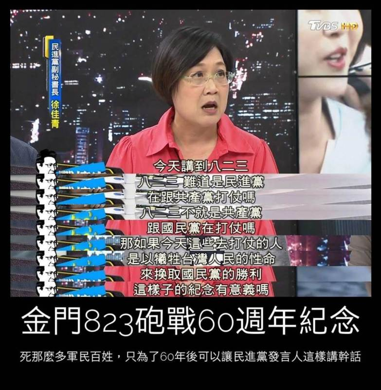 徐佳青談823不關民進黨的事