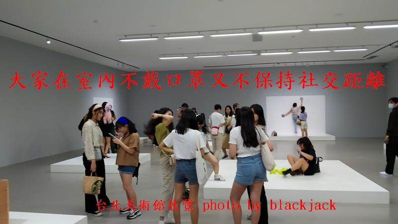 台灣若開放歐美入境限制,必然大爆發新冠肺炎:台北美術館展覽大家室內不戴口罩又不保持社交距離,無視陳時中!