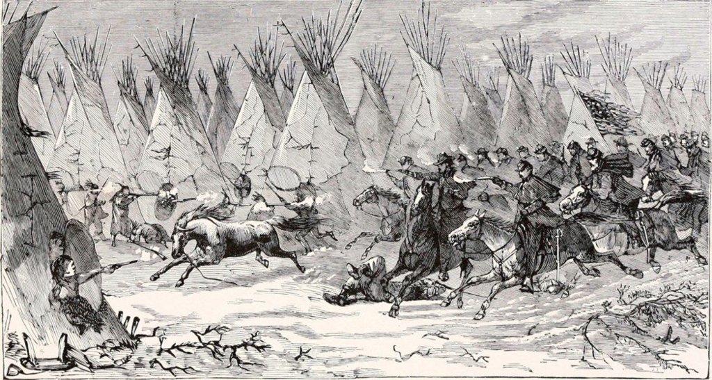 屠殺印第安部落的騎兵隊。 圖/維基共享