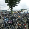 Ferry and bikes in Amsterdam