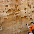 拱門國家公園大水沖刷形成的岩石