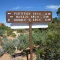 拱門國家公園惡魔花園步道查路指標