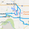 Palouse Falls Driving Map