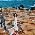 全台拍婚紗景點推薦-絕美湛藍北海岸海邊婚紗攝影💕