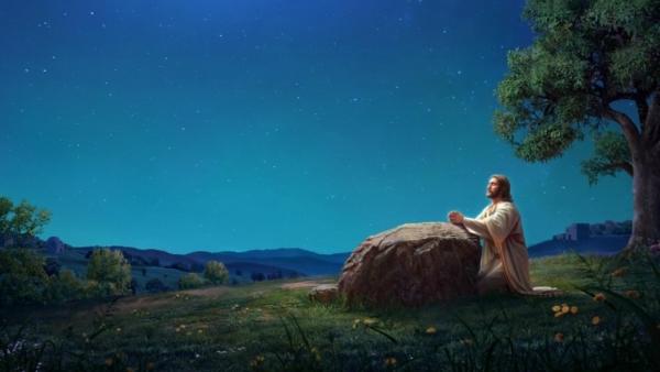 主耶穌在客西馬尼園中禱告
