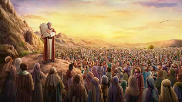 摩西向以色列百姓頒布律法