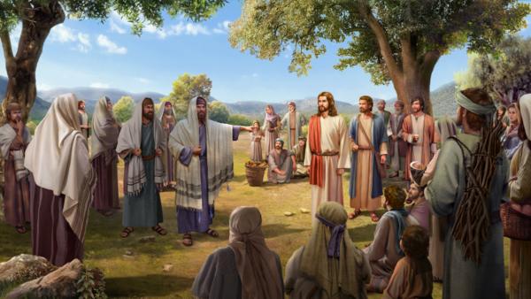文士和法利賽人故意攔阻人們聽耶穌講道