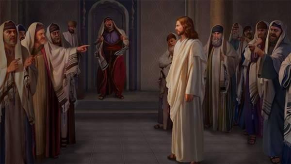 法利賽人在教堂攻擊主耶穌