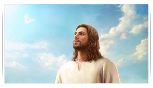 主耶穌受洗後聖靈彷彿像鴿子一樣降臨在主耶穌身上