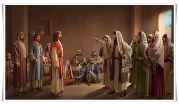 法利賽人抵擋主耶穌