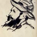 馬內 Head of a Man (Claude Monet), 1874, Edouard Manet