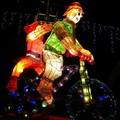 (256)競賽燈區-鐵馬傳情花燈
