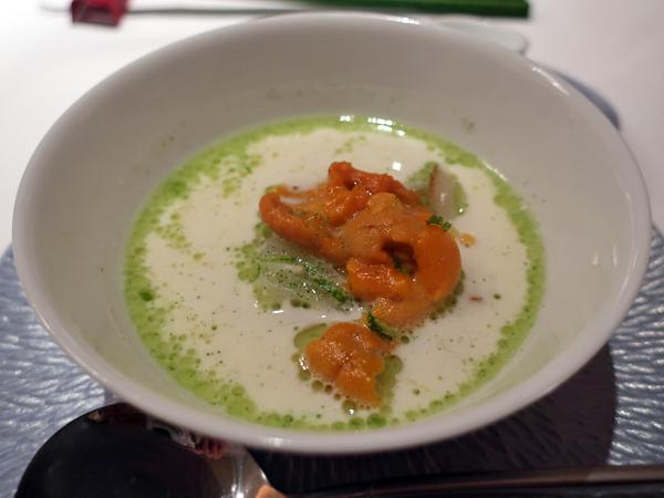 海膽青蔥濃湯