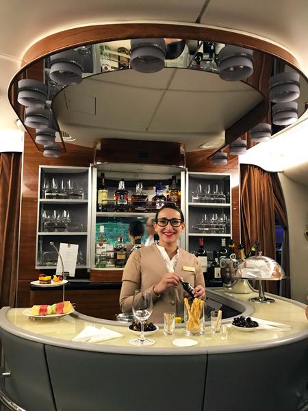A380 客機上的酒吧
