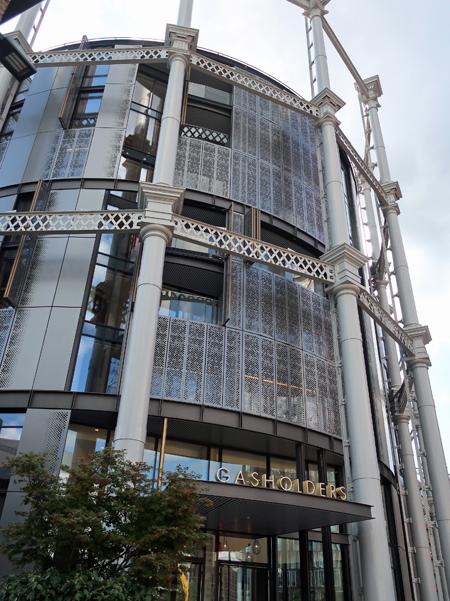 煤氣貯氣槽骨架翻修改建而成的圓型高級住宅