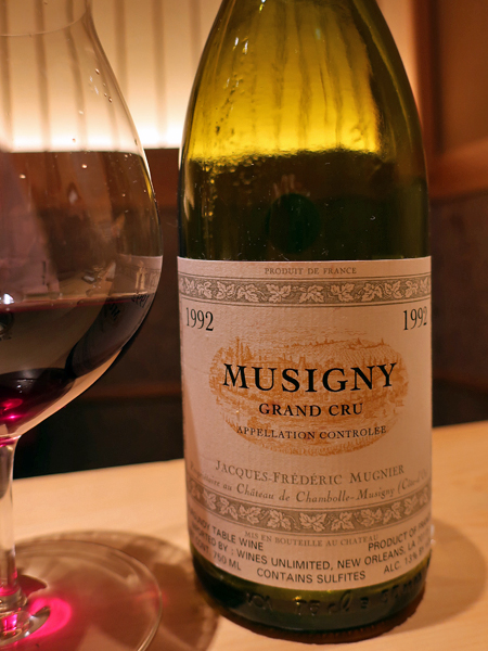 1992 Domaine Jacques-Frederic Mugnier Le Musigny Grand Cru