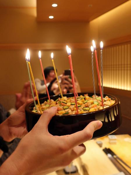代替蛋糕慶生