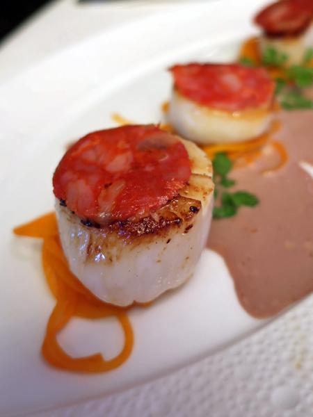 西班牙香腸與煎貝柱