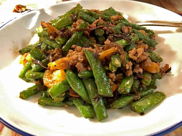 欖菜四季豆