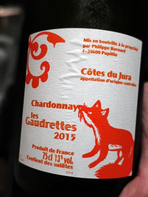 2015 Annie et Philippe Bornard Cotes du Jura Chardonnay Les Gaudrettes