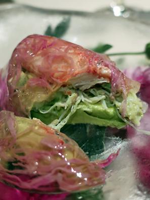 毛蟹肉與酪梨沙拉