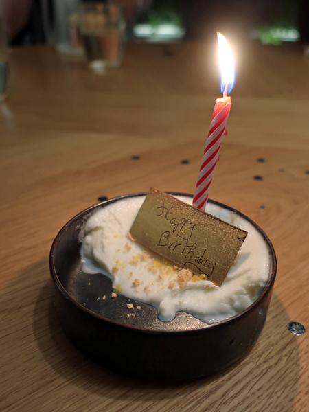 壽星版的白乳酪冰淇淋