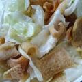 蒜炒豬皮高麗菜