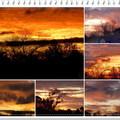 日落與日出,總會將天邊染成一片豔麗色彩,加上當天的雲彩,總構成不同的畫面,千遍萬化,迷戀千姿風情。